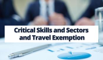 Critical Skills and Sectors