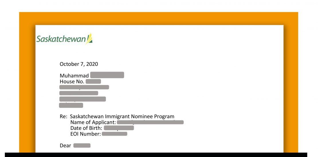 Saskatchewan ITA under the nominee program