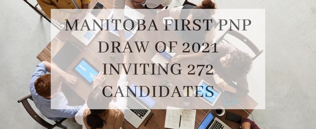 Manitoba first PNP draw