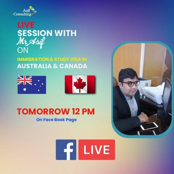 Live Session For Australia And Canada Immigration