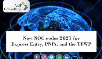 New 2021 NOC Codes